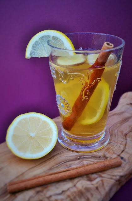 Fresh ginger hot toddy