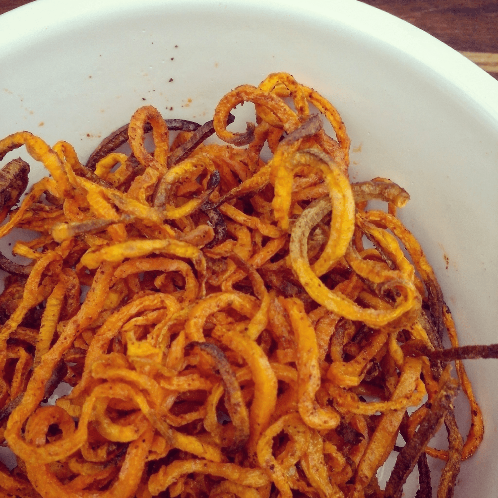 spiralised fries
