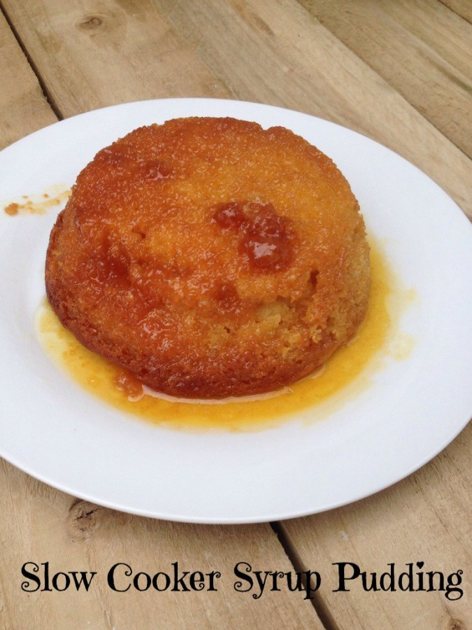 slow cooked syrup pudding