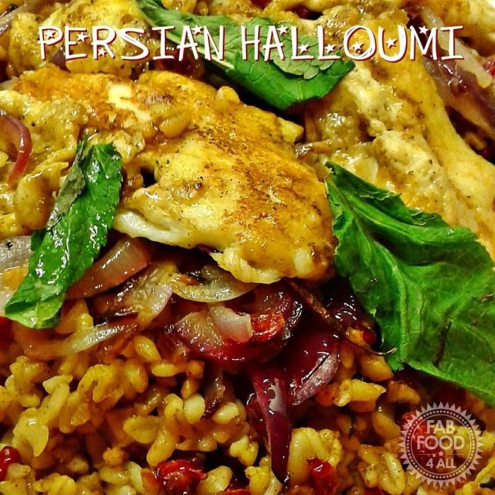 image of persian halloumi with arborio rice
