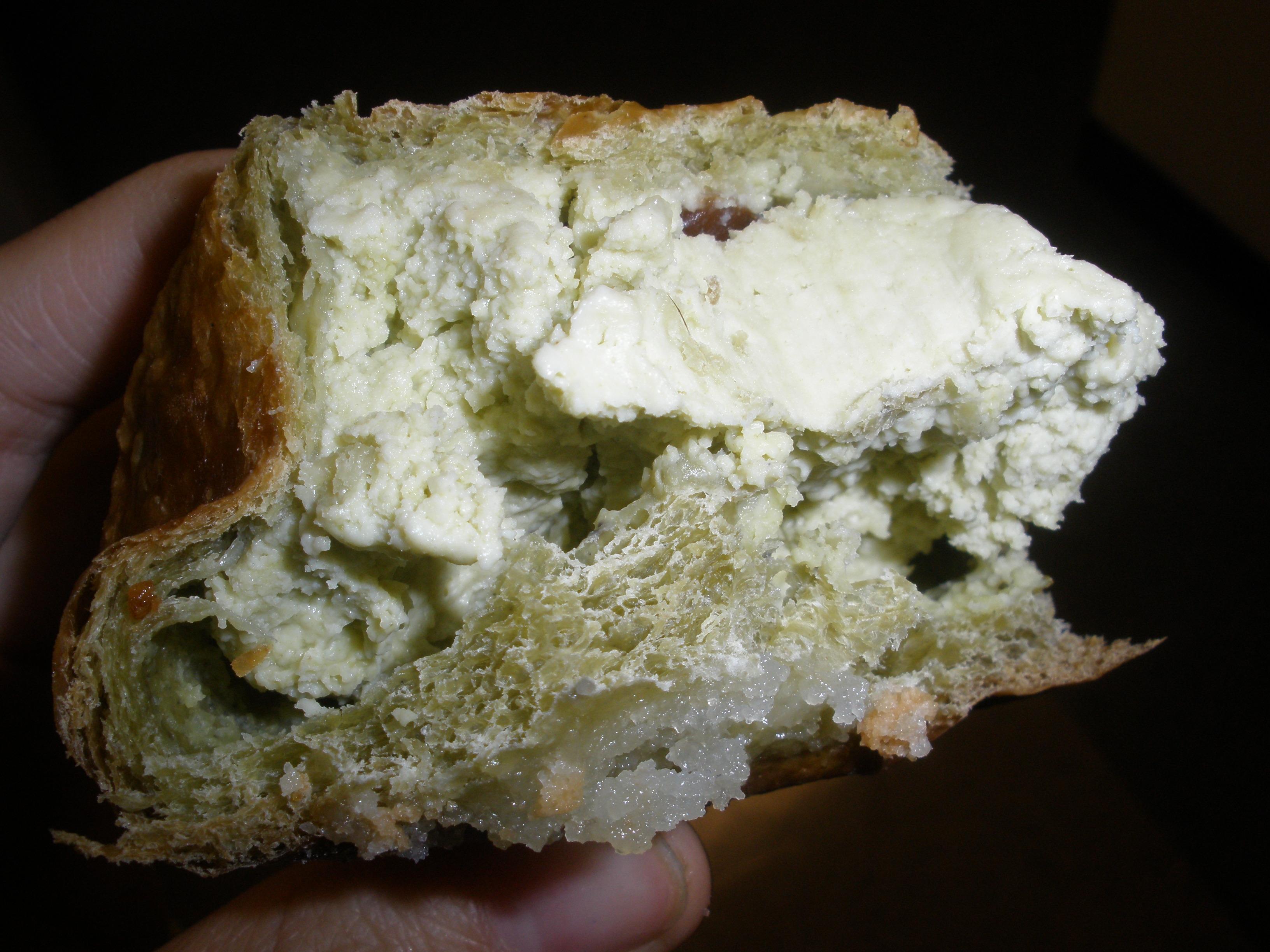 Green Tea Bread Innards!