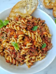 Pasta with Vegan Ragu