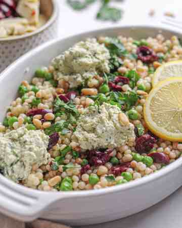 Pearl CousCous with Peas, Mint and Lemon Ricotta