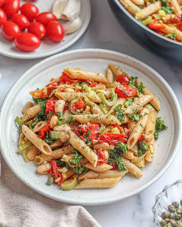 Penne with Roasted Tomatoes and Kale