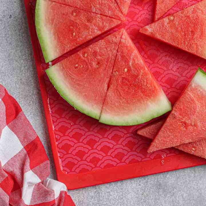Sliced watermelon close-up