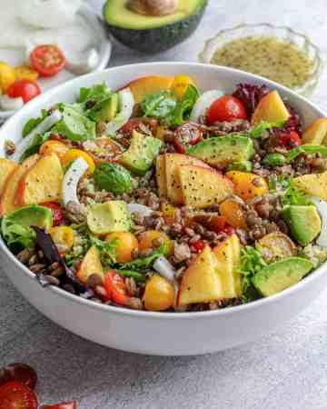 Peach & Avocado Salad
