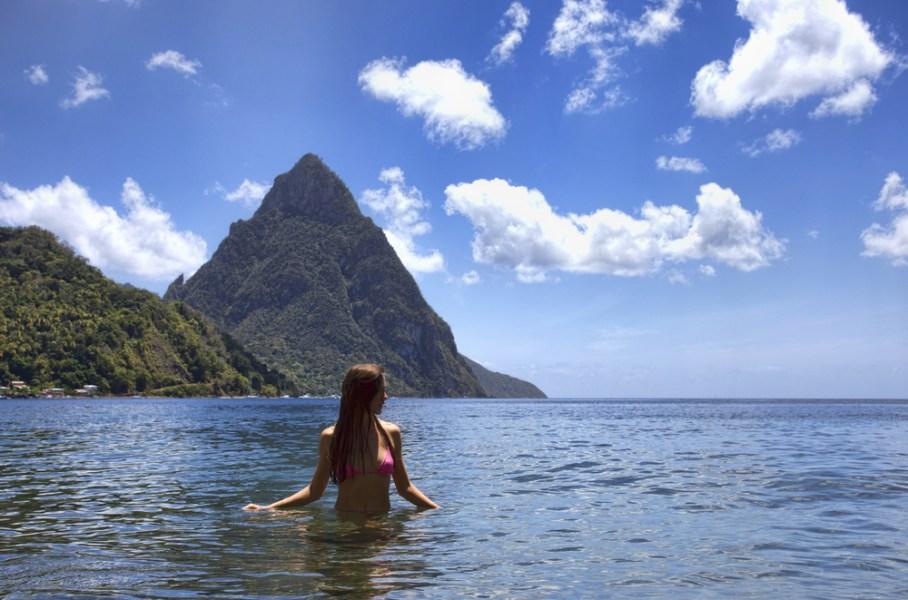 Swim in the Caribbean Sea