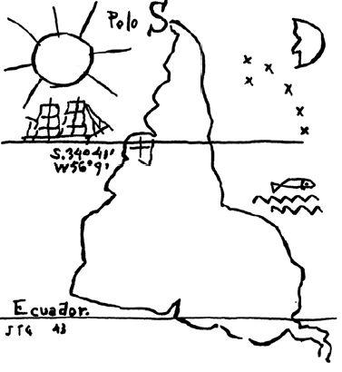 Ilustração de Joaquín Torres García. Crédito Reprodução
