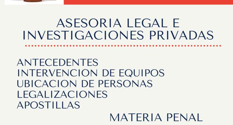 asesoría legal e investigaciones privadas