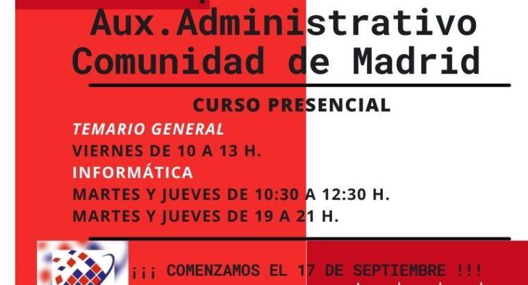 Oposiciones auxiliar administrativo C. Madrid