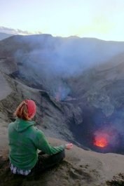 talking to the volcano