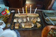 the capitan's birthday and our christmas cake