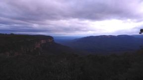 the blue mountains at night