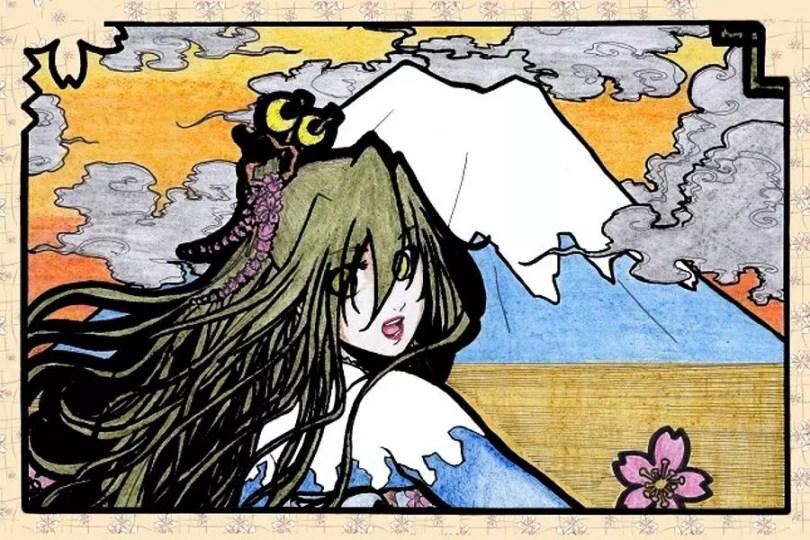 Deusa do Fuji   Arte de Rhaine Elric