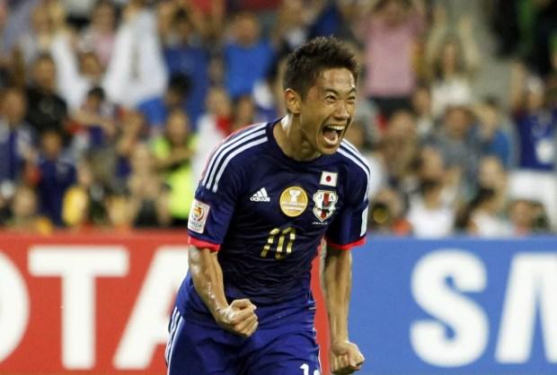 Japão vence a Jordânia na Copa da Ásia 2015 (Foto: Kyodo/Reuters)