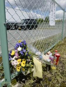 O corpo da menina foi encontrado num estacionamento em Takatsuki (Foto: Kyodo)