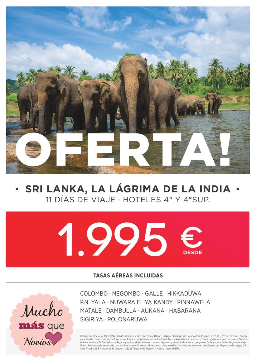 Oferta Feria Sri Lanka