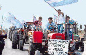 protesta del campo