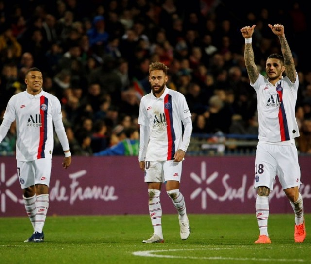 Mauro Icardi Scores Volley Goal For Psg In Win Vs Montpellier