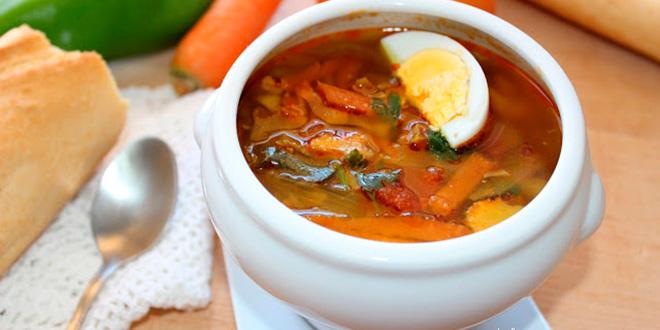 Receta de sopa de verduras