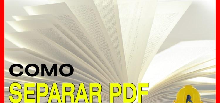 separar archivo pdf en páginas