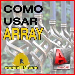 comando array autocad