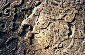 Guerrero en estela del Ceibal Peten Gerardo Orrego - Galería - Fotos del Arte Maya