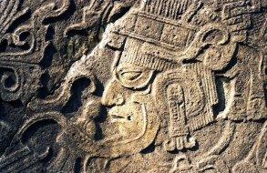 Guerrero en estela del Ceibal - Peten - Gerardo Orrego