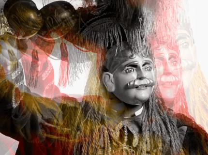 Personaje de El Paabank foto por Julian Quevedo - El Paab´ank una fiesta cultural Q'eqchi'