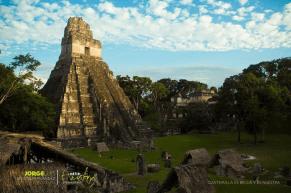 Tikal el Gran Jaguar foto por Jorge Santos de la pagina Entre Amates - El Gran Jaguar en Tikal - pirámide Maya