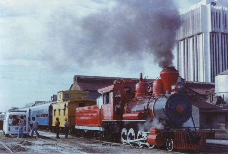 Ferrocarril conocido como El Tren de la Alegria, 1971 - foto proporcionada por Serghy Silva