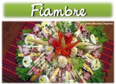 Comida b6 Fiambre Video Recetas Chapinas e1358973698239 - Galería - Fotos de la Gastronomía Guatemalteca