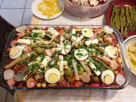 Fiambre foto por Carmen Lucia Barrientos. - Galería - Fotos de la Gastronomía Guatemalteca