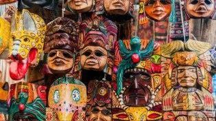 Mascaras de Chichicastenango - foto por Maynor Marino Mijangos