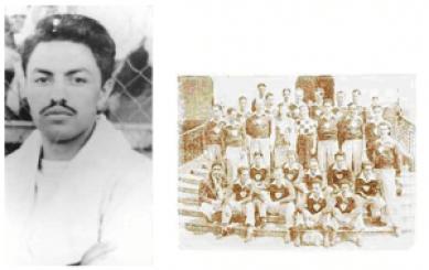 Mario camposeco a la derecha con su equipo Xelaju. 300x189 - Mario Camposeco, futbolista