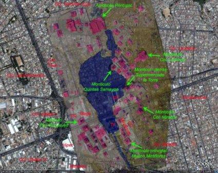 kaminal juyu mapa de los monticulos - Kaminal Juyú, Guatemala - ciudad maya