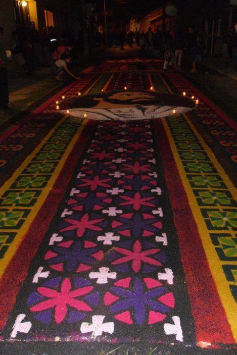 Alfombras de Semana Santa 10 foto por Luis Gustavo Soria - Galería - Fotos de las Tradicionales Alfombras de la Cuaresma y Semana Santa