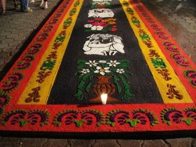 Alfombras de Semana Santa, fot por Lilian Contreras.