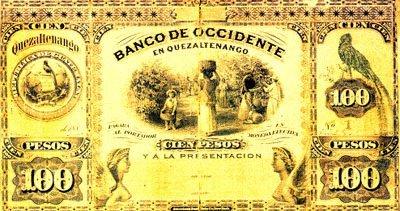 Antiguo billete nacional foto por Juan Arturo Pérez - El Origen de la Moneda en Guatemala