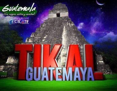 Arte gráfico de Guatemala Tikal composición por Arte Grafiko Mario Guevara - Galería - Arte Gráfico de Temas de Guatemala