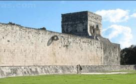 Juego de Pelota M aro de Chichen por ciudadesmayascom - El Juego de Pelota de Los Mayas