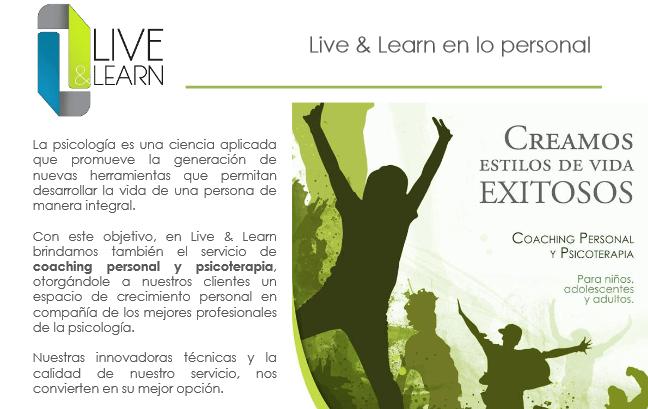 live and learn creamos - Live & Learn - Empresa de Servicios de Psicología Aplicada