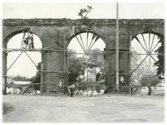 recuerdos Reparaciones al acueducto de Pinula foto proporcionada por Manolo Mendez Rimola - Montículo la Culebra y Acueducto de Pinula
