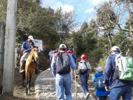 Inicio de la caminata desde San Francisco de Sales - Guía Turística - Volcán de Pacaya
