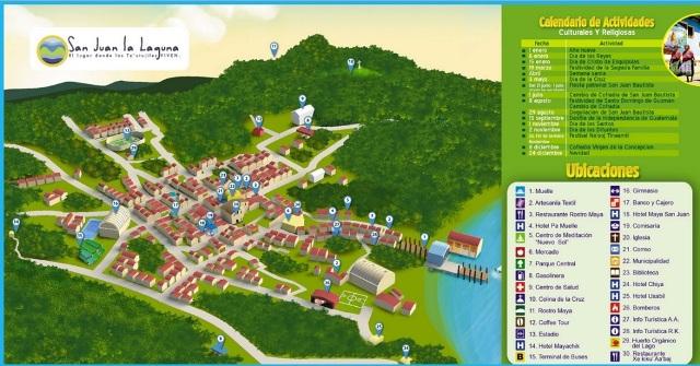 Mapa turístico de San Juan la Laguna - Guía Turística - San Juan La Laguna, Sololá