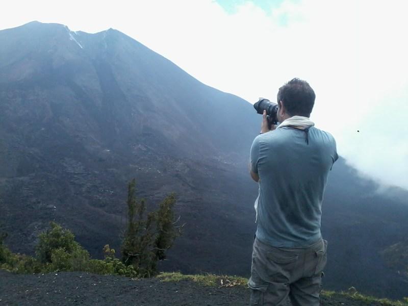 Para los fotógrafos este es un lugar privilegiado para contemplar un paisaje. - Guía Turística - Volcán de Pacaya