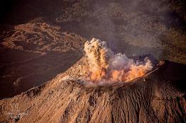 el momento cuando el volcan santiaguito hizo su explosion foto por dany lopez - Galeria de Fotos de Guatemala por Dany Lopez