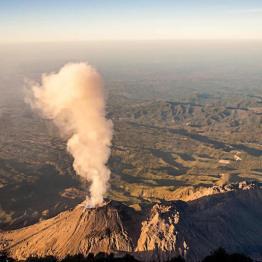 Volcán Santiaguito - foto por Dany Lopez