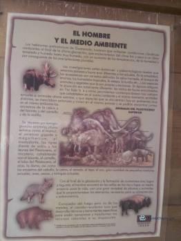 """Imagen de uno de los paneles interpretativos - Guía Turística - Sitio Paleontológico """"El Mamut"""""""