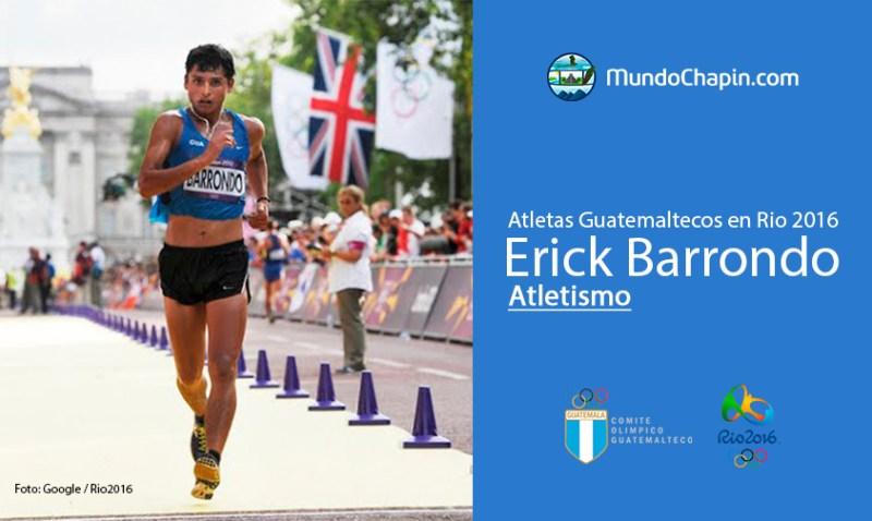 barrondo rio2016 mundochapin - Los 21 atletas guatemaltecos en Río 2016